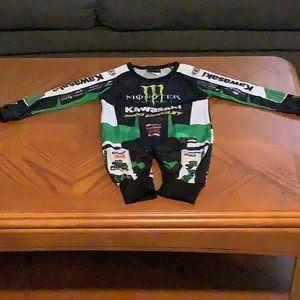 Monster Energy Motocross Onesie Sz 6-12 months